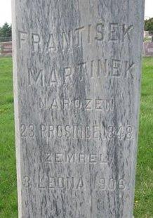 MARTINEK, FRANTISEK (CLOSE UP) - Knox County, Nebraska | FRANTISEK (CLOSE UP) MARTINEK - Nebraska Gravestone Photos