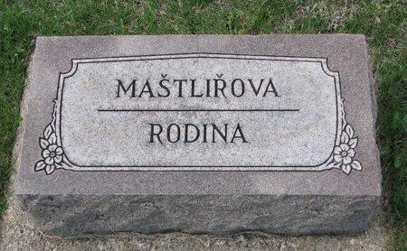 MASTLIROVA, RODINA - Knox County, Nebraska | RODINA MASTLIROVA - Nebraska Gravestone Photos
