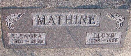 BLOCK MATHINE, ELENORA - Knox County, Nebraska | ELENORA BLOCK MATHINE - Nebraska Gravestone Photos