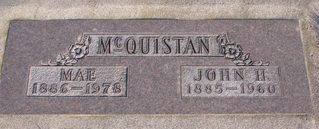 MCQUISTAN, MAE - Knox County, Nebraska | MAE MCQUISTAN - Nebraska Gravestone Photos