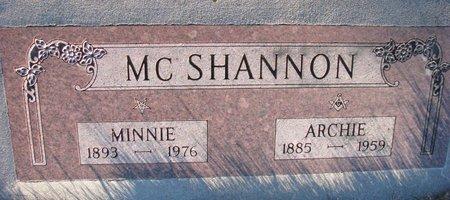 MCSHANNON, ARCHIE - Knox County, Nebraska | ARCHIE MCSHANNON - Nebraska Gravestone Photos