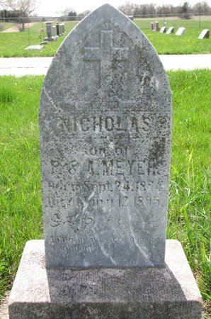 MEYER, NICHOLAS - Knox County, Nebraska | NICHOLAS MEYER - Nebraska Gravestone Photos