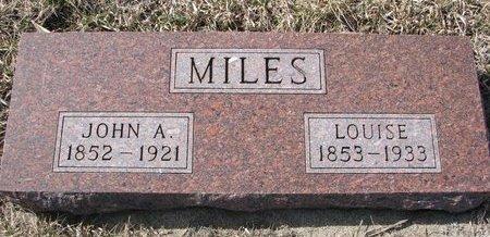 MILES, JOHN A. - Knox County, Nebraska | JOHN A. MILES - Nebraska Gravestone Photos