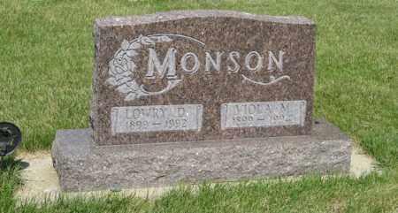 MONSON, LOWRY D. - Knox County, Nebraska | LOWRY D. MONSON - Nebraska Gravestone Photos
