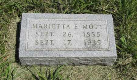 MOTT, MARIETTA E. - Knox County, Nebraska | MARIETTA E. MOTT - Nebraska Gravestone Photos