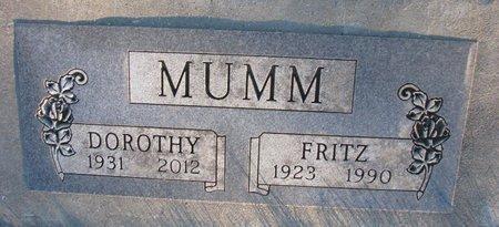 MUMM, DOROTHY ROSE - Knox County, Nebraska   DOROTHY ROSE MUMM - Nebraska Gravestone Photos