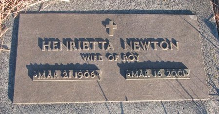 NEWTON, HENRIETTA - Knox County, Nebraska | HENRIETTA NEWTON - Nebraska Gravestone Photos