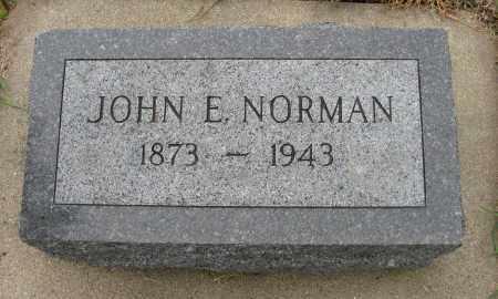 NORMAN, JOHN E. - Knox County, Nebraska | JOHN E. NORMAN - Nebraska Gravestone Photos