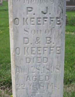 O'KEEFE, P.J. (CLOSE UP) - Knox County, Nebraska   P.J. (CLOSE UP) O'KEEFE - Nebraska Gravestone Photos