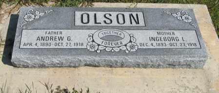 OLSON, ANDREW G. - Knox County, Nebraska | ANDREW G. OLSON - Nebraska Gravestone Photos