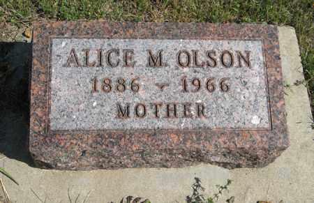 OLSON, ALICE M. - Knox County, Nebraska | ALICE M. OLSON - Nebraska Gravestone Photos