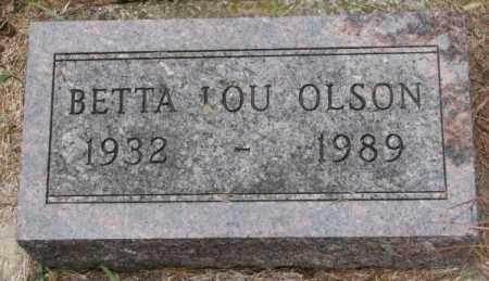 OLSON, BETTA LOU - Knox County, Nebraska   BETTA LOU OLSON - Nebraska Gravestone Photos