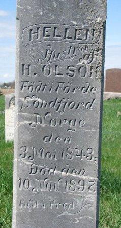 OLSON, HELLEN (CLOSE UP) - Knox County, Nebraska | HELLEN (CLOSE UP) OLSON - Nebraska Gravestone Photos