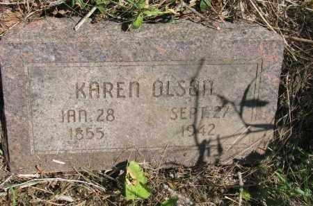 OLSON, KAREN - Knox County, Nebraska | KAREN OLSON - Nebraska Gravestone Photos