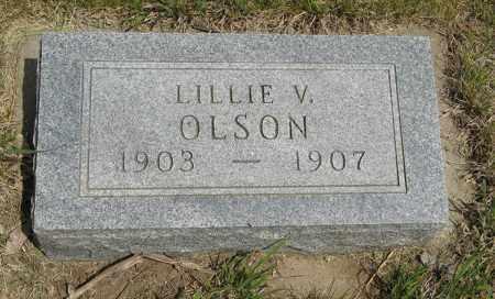 OLSON, LILLIE V. - Knox County, Nebraska | LILLIE V. OLSON - Nebraska Gravestone Photos