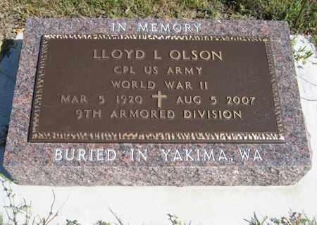 OLSON, LLOYD L. - Knox County, Nebraska   LLOYD L. OLSON - Nebraska Gravestone Photos