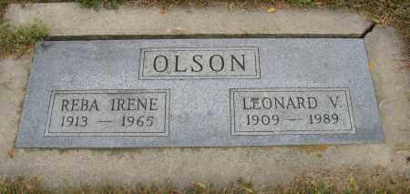 OLSON, REBA IRENE - Knox County, Nebraska   REBA IRENE OLSON - Nebraska Gravestone Photos