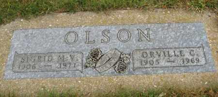 OLSON, SIGRID M. V. - Knox County, Nebraska | SIGRID M. V. OLSON - Nebraska Gravestone Photos