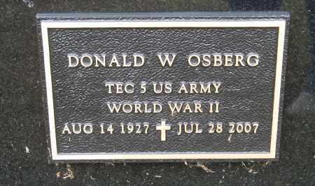 OSBERG, DONALD W. (MILITARY MARKER) - Knox County, Nebraska | DONALD W. (MILITARY MARKER) OSBERG - Nebraska Gravestone Photos