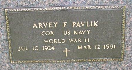 PAVLIK, ARVEY F. (MILITARY) - Knox County, Nebraska   ARVEY F. (MILITARY) PAVLIK - Nebraska Gravestone Photos