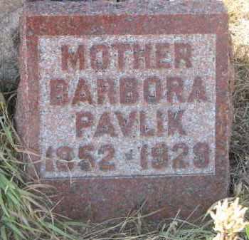 PAVLIK, BARBORA - Knox County, Nebraska | BARBORA PAVLIK - Nebraska Gravestone Photos