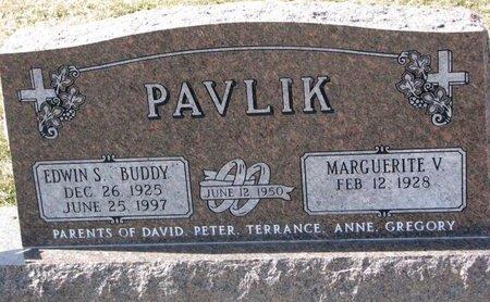 "PAVLIK, EDWIN S. ""BUDDY"" - Knox County, Nebraska | EDWIN S. ""BUDDY"" PAVLIK - Nebraska Gravestone Photos"
