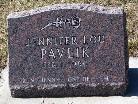 PAVLIK, JENNIFER LOU - Knox County, Nebraska | JENNIFER LOU PAVLIK - Nebraska Gravestone Photos