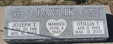 PAVLIK, OTILLIA T. - Knox County, Nebraska   OTILLIA T. PAVLIK - Nebraska Gravestone Photos