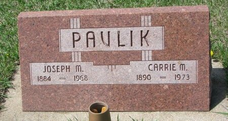 PAVLIK, CARRIE M. - Knox County, Nebraska | CARRIE M. PAVLIK - Nebraska Gravestone Photos