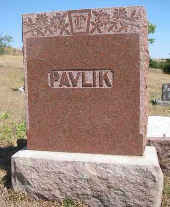 PAVLIK, PLOT STONE - Knox County, Nebraska | PLOT STONE PAVLIK - Nebraska Gravestone Photos