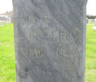 PETERKA, JOHN (CLOSE UP) - Knox County, Nebraska | JOHN (CLOSE UP) PETERKA - Nebraska Gravestone Photos