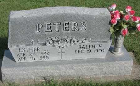 PETERS, ESTHER L. - Knox County, Nebraska | ESTHER L. PETERS - Nebraska Gravestone Photos