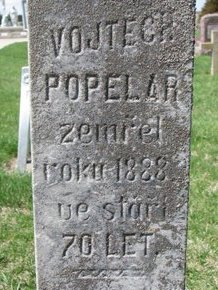 POPELAR, VOJTECH (CLOSE UP) - Knox County, Nebraska | VOJTECH (CLOSE UP) POPELAR - Nebraska Gravestone Photos