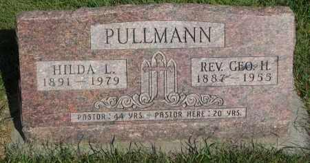 PULLMANN, GEORGE H. (REV.) - Knox County, Nebraska | GEORGE H. (REV.) PULLMANN - Nebraska Gravestone Photos