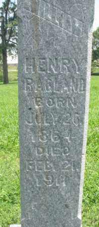 RAGLAND, HENRY (CLOSEUP) - Knox County, Nebraska   HENRY (CLOSEUP) RAGLAND - Nebraska Gravestone Photos