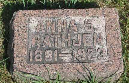 RATHJEN, ANNA S. - Knox County, Nebraska | ANNA S. RATHJEN - Nebraska Gravestone Photos