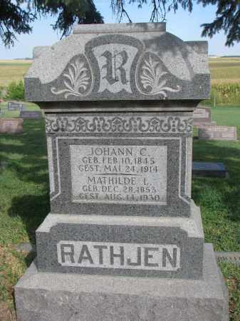 RATHJEN, MATHILDE L. - Knox County, Nebraska | MATHILDE L. RATHJEN - Nebraska Gravestone Photos