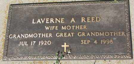 REED, LAVERNE A. - Knox County, Nebraska | LAVERNE A. REED - Nebraska Gravestone Photos