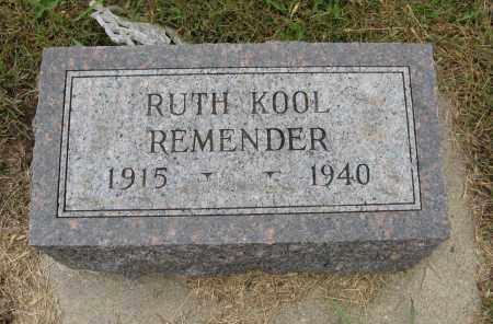 REMENDER, RUTH - Knox County, Nebraska | RUTH REMENDER - Nebraska Gravestone Photos