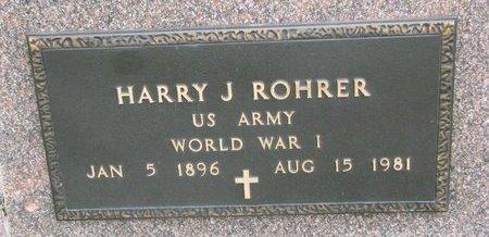 ROHRER, HARRY J. (MILITARY) - Knox County, Nebraska   HARRY J. (MILITARY) ROHRER - Nebraska Gravestone Photos
