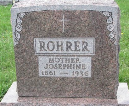 ROHRER, JOSEPHINE - Knox County, Nebraska | JOSEPHINE ROHRER - Nebraska Gravestone Photos