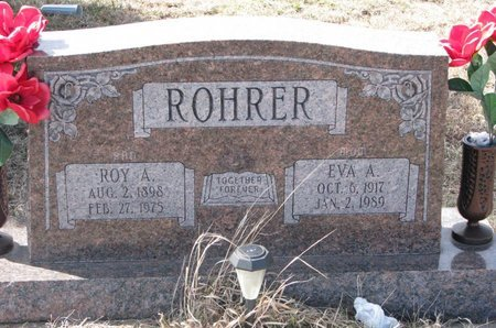 ROHRER, ROY A. - Knox County, Nebraska | ROY A. ROHRER - Nebraska Gravestone Photos