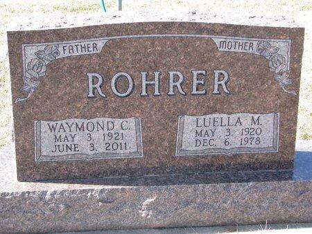 ROHRER, WAYMOND C. - Knox County, Nebraska | WAYMOND C. ROHRER - Nebraska Gravestone Photos