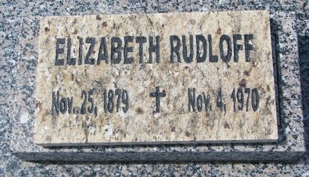 RUDLOFF, ELIZABETH - Knox County, Nebraska | ELIZABETH RUDLOFF - Nebraska Gravestone Photos