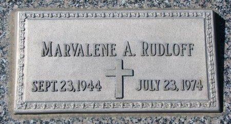 RUDLOFF, MARVALENE A. - Knox County, Nebraska | MARVALENE A. RUDLOFF - Nebraska Gravestone Photos