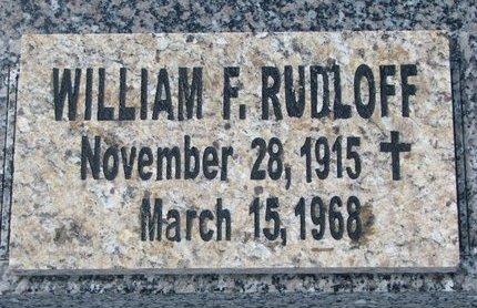 RUDLOFF, WILLIAM F. - Knox County, Nebraska | WILLIAM F. RUDLOFF - Nebraska Gravestone Photos