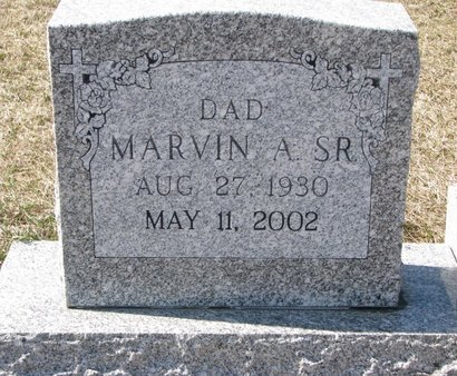 RUZICKA, MARVIN A., SR. (CLOSE UP) - Knox County, Nebraska   MARVIN A., SR. (CLOSE UP) RUZICKA - Nebraska Gravestone Photos