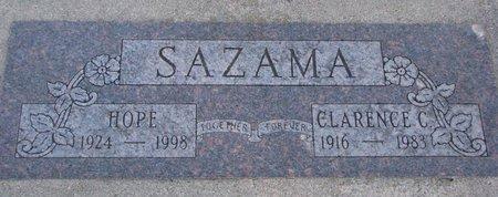 SAZAMA, HOPE - Knox County, Nebraska   HOPE SAZAMA - Nebraska Gravestone Photos