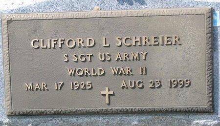 SCHREIER, CLIFFORD L. (MILITARY) - Knox County, Nebraska   CLIFFORD L. (MILITARY) SCHREIER - Nebraska Gravestone Photos