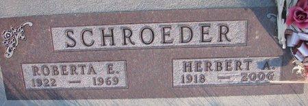 SCHROEDER, ROBERTA E. - Knox County, Nebraska | ROBERTA E. SCHROEDER - Nebraska Gravestone Photos
